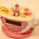 Hello Kitty Clock AM FM Radio Alarm tea cup night light electronic accessory