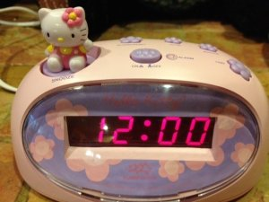 cute pink hello kitty alarm clock electronic accessory home bedroom children