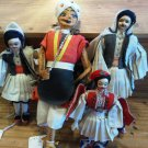lot set 4 VINTAGE ANTIQUE DOLL HANDMADE HANDPAINTED MAN DECORATIVE COLLECTIBLE FIGURINE HOME