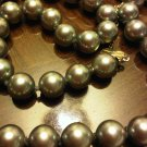 MAJORICA BLACK PEARL CHOKER NECKLACE VINTAGE JEWELRY WOMEN'S ACCESSORY CLOTHING FASHION