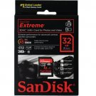 SanDisk 32GB Extreme Class 10 SD Flash Memory Card HD 3D electronic accessory