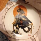Vintage Norman Rockwell plate anniversary gift hobby decorative collectible kitchen