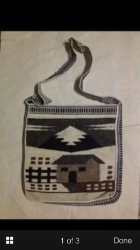 C Wool art bag Indian handbag women's accessory decorative collectible