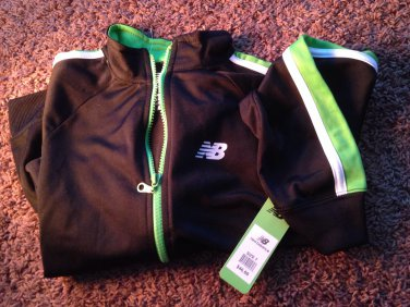 New balance kids 7 clothing boys girls track jacket green black white
