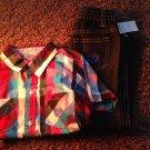 Phat farm kids 4T clothing boys girls lot shirt jeans red blue