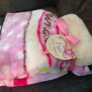 pink princess castle baby blanket soft snuggly kids bedroom accessory