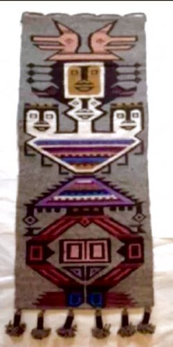 Wall mural camp cabin decorative collectible totem pole art Latin america