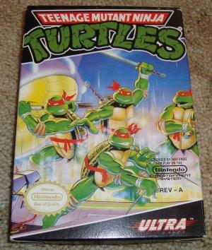 Teenage Mutant Ninja Turtles NES Game w/ Box & Manual - TMNT - Nintendo