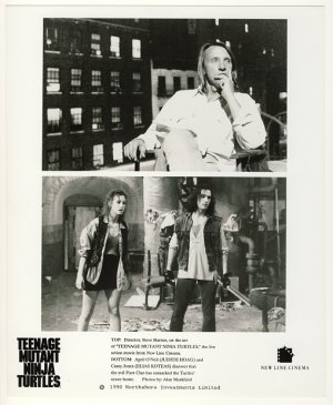 Director Steve Barron + April O'Neil & Casey Jones Promo Press Photo - Ninja Turtles - TMNT