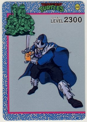 TMNT Japanese Trading Card - PP Card #33 - Teenage Mutant Ninja Turtles