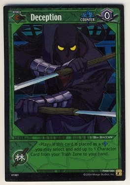 TMNT Trading Card Game - Foil Card #31 - Deception - Ninja Turtles