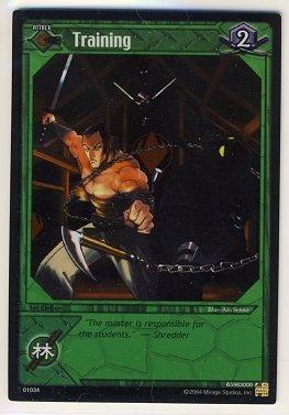 TMNT Trading Card Game - Foil Card #34 - Training - Ninja Turtles