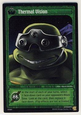 TMNT Trading Card Game - Foil Card #41 - Thermal Vision - Ninja Turtles