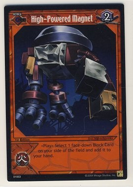 TMNT Trading Card Game - Foil Card #53 - High-Powered Magnet - Ninja Turtles