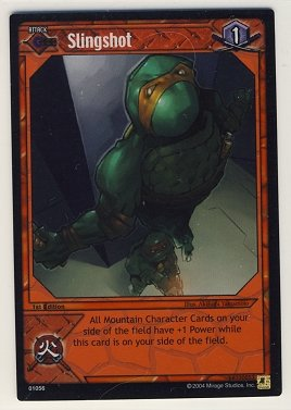 TMNT Trading Card Game - Foil Card #56 - Slingshot - Ninja Turtles