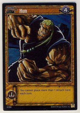 TMNT Trading Card Game - Foil Card #69 - Hun - Ninja Turtles