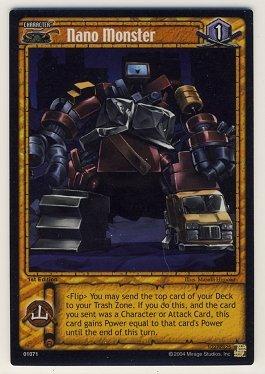 TMNT Trading Card Game - Foil Card #71 - Nano Monster - Ninja Turtles