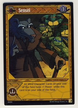 TMNT Trading Card Game - Foil Card #74 - Sensei - Ninja Turtles