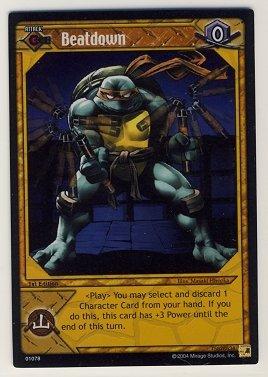 TMNT Trading Card Game - Foil Card #78 - Beatdown - Ninja Turtles