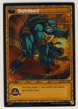 TMNT Trading Card Game - Foil Card #81 - Skateboard - Ninja Turtles