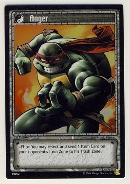 TMNT Trading Card Game - Foil Card #92 - Anger - Ninja Turtles