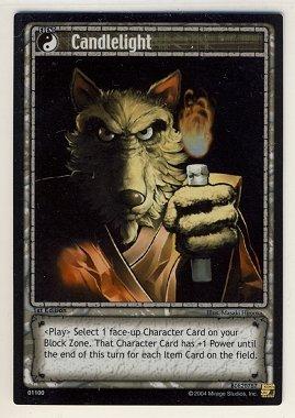TMNT Trading Card Game - Foil Card #100 - Candlelight - Ninja Turtles