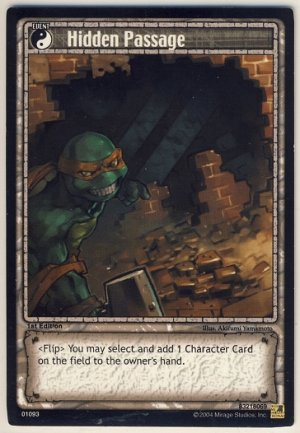 TMNT Trading Card Game - Uncommon Card #93 - Hidden Passage - Ninja Turtles