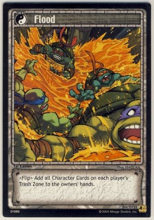 TMNT Trading Card Game - Uncommon Card #89 - Flood - Ninja Turtles