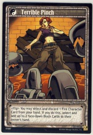 TMNT Trading Card Game - Uncommon Card #87 - Terrible Pinch - Ninja Turtles