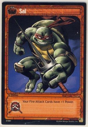 TMNT Trading Card Game - Uncommon Card #61 - Sai - Ninja Turtles