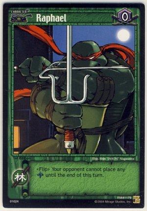 TMNT Trading Card Game - Uncommon Card #24 - Raphael - Ninja Turtles