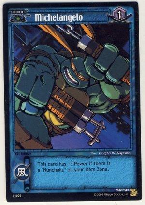 TMNT Trading Card Game - Uncommon Card #04 - Michelangelo - Ninja Turtles