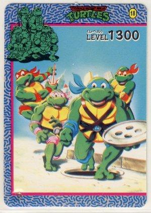 TMNT Japanese Trading Card - PP Card #18 - Teenage Mutant Ninja Turtles