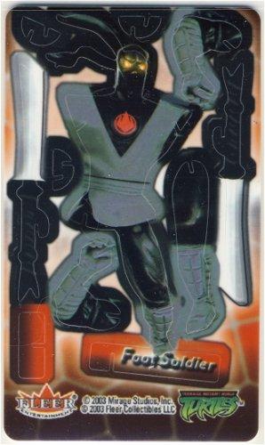 TMNT Trading Card - 3D Model Foot Soldier - Teenage Mutant Ninja Turtles - Fleer