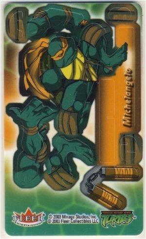 TMNT Trading Card - 3D Model Michelangelo (B) - Teenage Mutant Ninja Turtles - Fleer