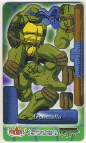TMNT Trading Card - 3D Model Donatello (A) - Teenage Mutant Ninja Turtles - Fleer