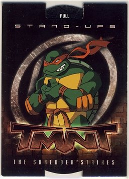 TMNT Fleer Series 2 Trading Card - Raphael Stand-Up - Shredder Strikes - Ninja Turtles