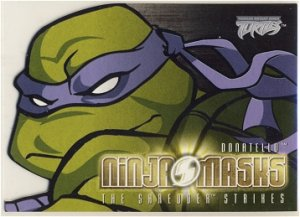 TMNT Fleer Series 2 Trading Card - Donatello Ninja Mask - Shredder Strikes - Ninja Turtles