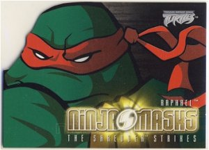 TMNT Fleer Series 2 Trading Card - Raphael Ninja Mask - Shredder Strikes - Ninja Turtles