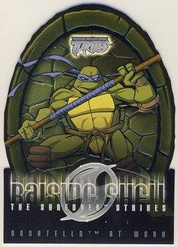 TMNT Fleer Series 2 Trading Card - Raising Shell #01 Donatello - Shredder Strikes - Ninja Turtles