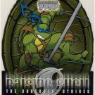 TMNT Fleer Series 2 Trading Card - Raising Shell #07 Leonardo - Shredder Strikes - Ninja Turtles