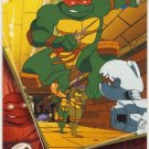 TMNT Fleer Series 2 Trading Card - Gold Parallel #3 - The Shredder Strikes - Ninja Turtles