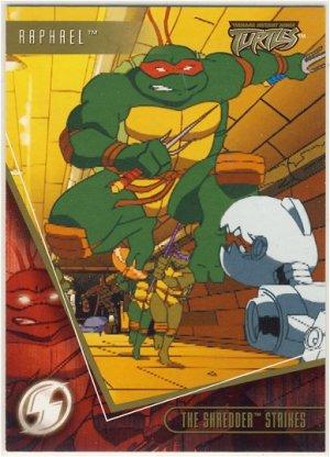 TMNT Fleer Series 2 Trading Card - Gold Parallel #3 - The Shredder Strikes - Ninja Turtles