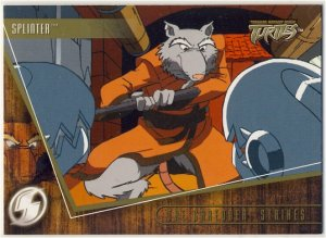 TMNT Fleer Series 2 Trading Card - Gold Parallel #6 - The Shredder Strikes - Ninja Turtles