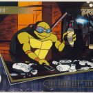 TMNT Fleer Series 2 Trading Card - Gold Parallel #8 - The Shredder Strikes - Ninja Turtles