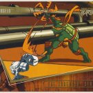 TMNT Fleer Series 2 Trading Card - Gold Parallel #10 - The Shredder Strikes - Ninja Turtles