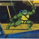 TMNT Fleer Series 2 Trading Card - Gold Parallel #21 - The Shredder Strikes - Ninja Turtles