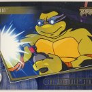 TMNT Fleer Series 2 Trading Card - Gold Parallel #25 - The Shredder Strikes - Ninja Turtles