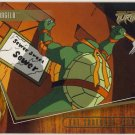 TMNT Fleer Series 2 Trading Card - Gold Parallel #28 - The Shredder Strikes - Ninja Turtles