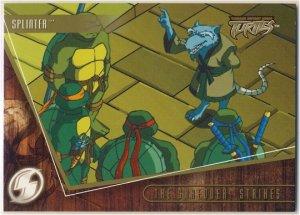 TMNT Fleer Series 2 Trading Card - Gold Parallel #31 - The Shredder Strikes - Ninja Turtles